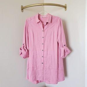 Soft Surroundings Pink Mauve Tunic M
